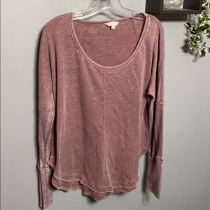 Lucky Brans Purple Henley Top sz L